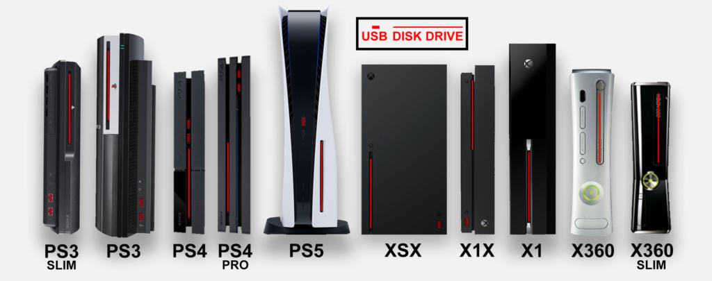 consoles size comparison